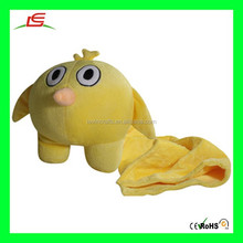 LE B71 Yellow Soft Chicken Plush Toy With Blanket