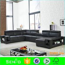 u-shape leather sofa / imported leather sofa / rozel leather sofa malaysia