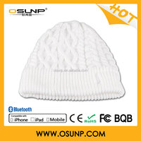 Portable bluetooth music beanie hat with headphone/beanie hats with built in headphones