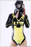 Latest hot sale sexy body latex rubber catsuit/zentai/clothings,whit hood