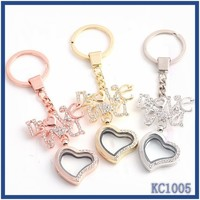 Good Quality Popular Promotional Gifts cheap couple necklace couple metal coin holder LOVE charming heart shaped locket keychain