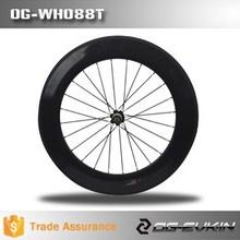 2015 más nuevo camino del carbón wheelset de la bici para OG-WH088C 700C 88 mm llanta años de garantía carbon road bike in gran precio