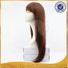 Wholesale cheap long silky straight 100% Japanese kanekalon high temperature fiber wig