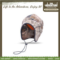 True Adventure F007 winter warm hunting hat camouflage fleece ear protection hat cap with string