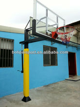 Outdoor in ground height adjustable basketball stand