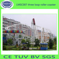 Amusement rides Small 3 loops Roller Coaster for sale