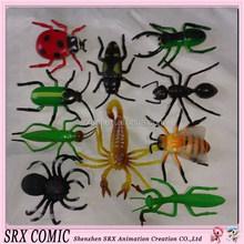 De plástico de fantasía figuras, encargo en miniatura de plástico de insectos figura