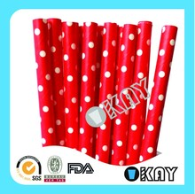 Red Swiss Paper Straws Crafts For Baby Showers