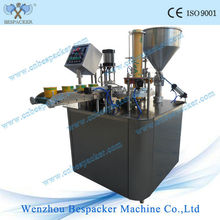 Automatic paper bowl sealing and filling machine
