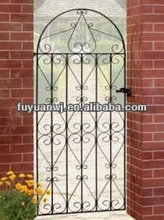 pvc coated artistic wrought iron garden gate(we are manufacturer)