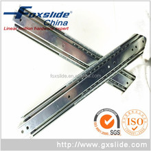 """12"""" Rebound Furniture Hardware Cabinet Push To Open Drawer Slide With 3 Section Device"""