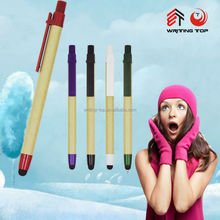 2015 promotional eco pen touch with logo