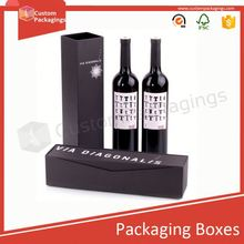 Shanghai Timi wine box with insert card holding bottle popular packaging