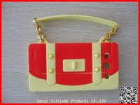 Fashion Lady Handbag Silicone Case for cell phone 100%Brand New!