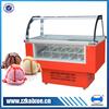 Curved glass haagen-dazs display freezer