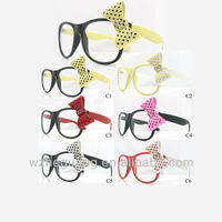 Large bow dot butterfly stone sunglasses for woman