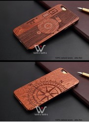 New arrival! Real natural wood case laser engraving camera design mobile phone case for iPhone 5/5s/6/6s