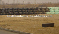 black silage stretch films for wrapping garbage in dump
