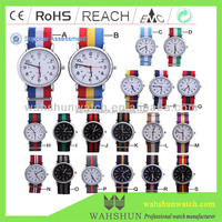 2014 Hot Promotional Gift Nato style interchangeable Nylon canvas strap