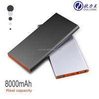 Mobile Phones Accessories Dual Emergency Charger 8000mah LED Power Bank for iPhone 6
