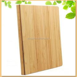 alibaba China supplier stylish bamboo folio flip case for ipad mini 3, double side used magnetic smart cover case for ipad mini