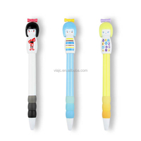 Hot selling cute snow baby stationery plastic ballpoint pen in factory price