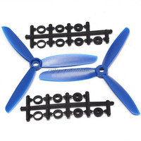 FCMODEL 5045 5X4.5 3-Blade Electric Propellers CW/CCW For QAV250 ZMR250 Frame kits Blue
