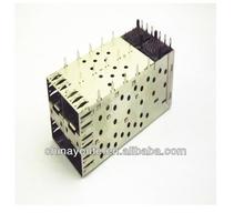 Single port press fit 1*1 SFP modular cage connector