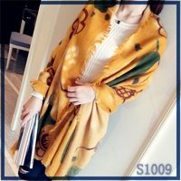 Top selling high quality factory price autumn series elegant light purple wool spinning printed scarf