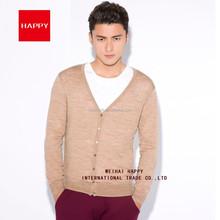 14GG 100% Merino Wool V Neck Cardigan Men Sweater