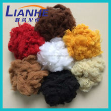 6d solid 100% recycled color textile fiber for spinning textile