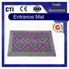 Anti Slip Ribbed Rubber Door Entry EVA Brush Plastic Flooring Mat