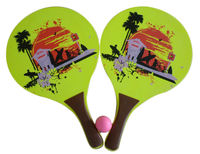 Beach Racket / Bat and Ball Set with Colored Printing