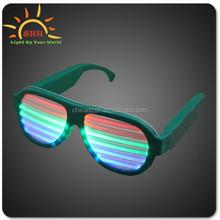 promotion gift flashing led sunglasses, halloween flashing led sunglasses, music sound activated flashing led sunglasses