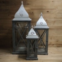 Retro style Wood Lanterns for Candles Nautical Home Decor Candlestick Crafts