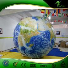 Full Printing Inflatable Globe Balloon / Inflatable Floating Advertising Balloon / Inflatable Helium Balloon