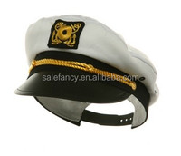 White Captain Hat Sexy Cop Police Officer Halloween men cop costumes QHAT-2005
