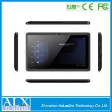 Pulgadas 7 capactitive del ordenador portátil de cinco puntos de la pantalla táctil tablet pc androide 4.0 allwinner a13