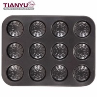 Non Stick Bakeware 12 Cup Muffin Pan Round