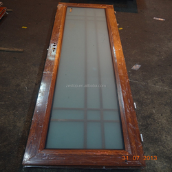 1.4mm thickness aluminium frame frosted toughened glass bathroom door