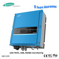 Factory directly string ac inverter 6kW two mppt with solar panel modules for home solar power system on grid