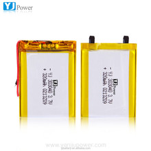 Rechargeable li-polymer battery 303040 320mAh 3.7V for GPS Tracking