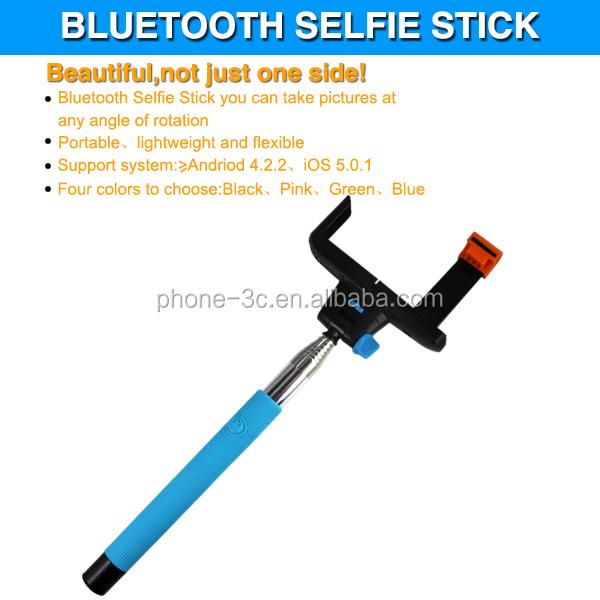 factory price wholesale selfie stick with bluetooth shutter button kjstar z07. Black Bedroom Furniture Sets. Home Design Ideas
