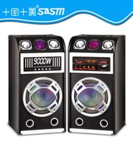 Professional active stage speaker with led light