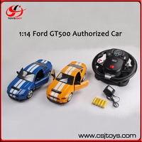 Authorized Mustang GT500 Steering Wheel Control 4CH RC Racing Car China Car Toys Licensed 1:14 RC Car With Automatic Door