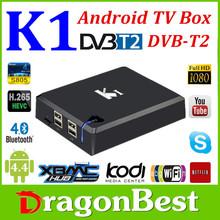 K1-T Dvb T2 android tv box dvb-t2 decoder wifi + ethernet android 4.0 smart tv box