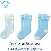 OEM Service Comfortable 100% Cotton Newborn Baby Unisex Terry Socks
