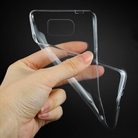 100Pcs / Lot : DHL / FedEx / UPS Wholesale - Crystal Clear Color : TPU Transparent Clear Soft Case For Samsung Galaxy S6 Edge