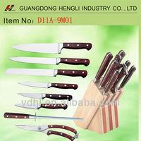 the classic 9 pcs kitchen knife set