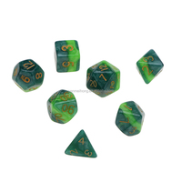 Acrylic Dice Factory Custom Engrave Plastic Polyhedral Dice Set